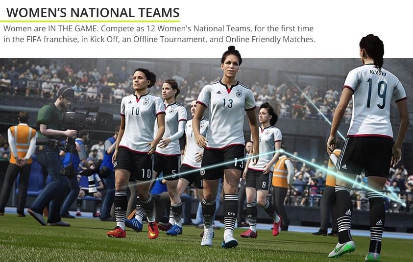 FIFA 16 Female Team now Available