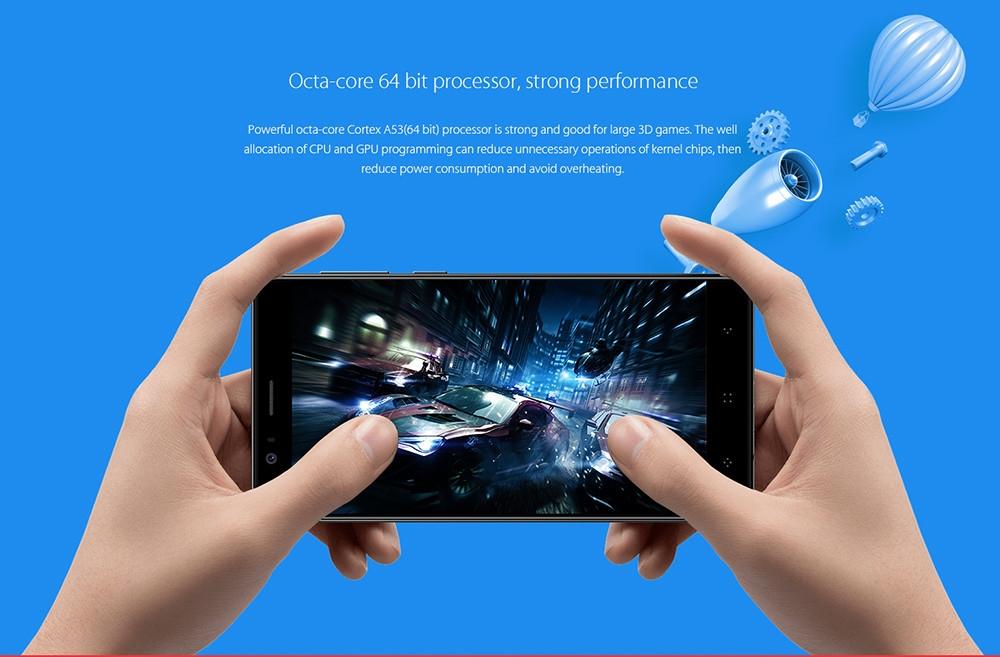 Elephone P8 Mini 4G Smartphone 5.0 inch Android 7.0 MTK6750T Octa Core 1.5GHz 4GB RAM 64GB ROM 13.0MP + 2.0MP Dual Rear Cameras Fingerprint Scanner