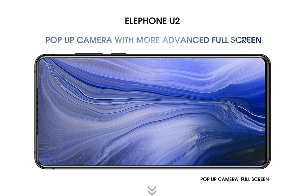 ELEPHONE U2 4G Phablet 6.26 inch Android 9.0 4GB RAM 64GB ROM 16MP 5MP 2MP Rear Cameras Built-in 3250mAh Battery