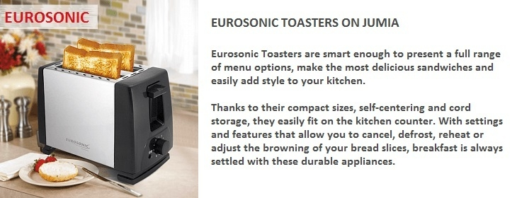 Buy Eurosonic Toasters on Jumia at the best cheap price in Nigeria