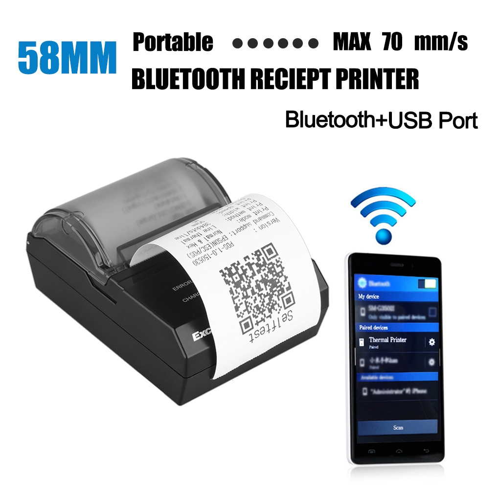 Excelvan HOP-E200 - Bluetooth Thermal Dot Receipt Printer