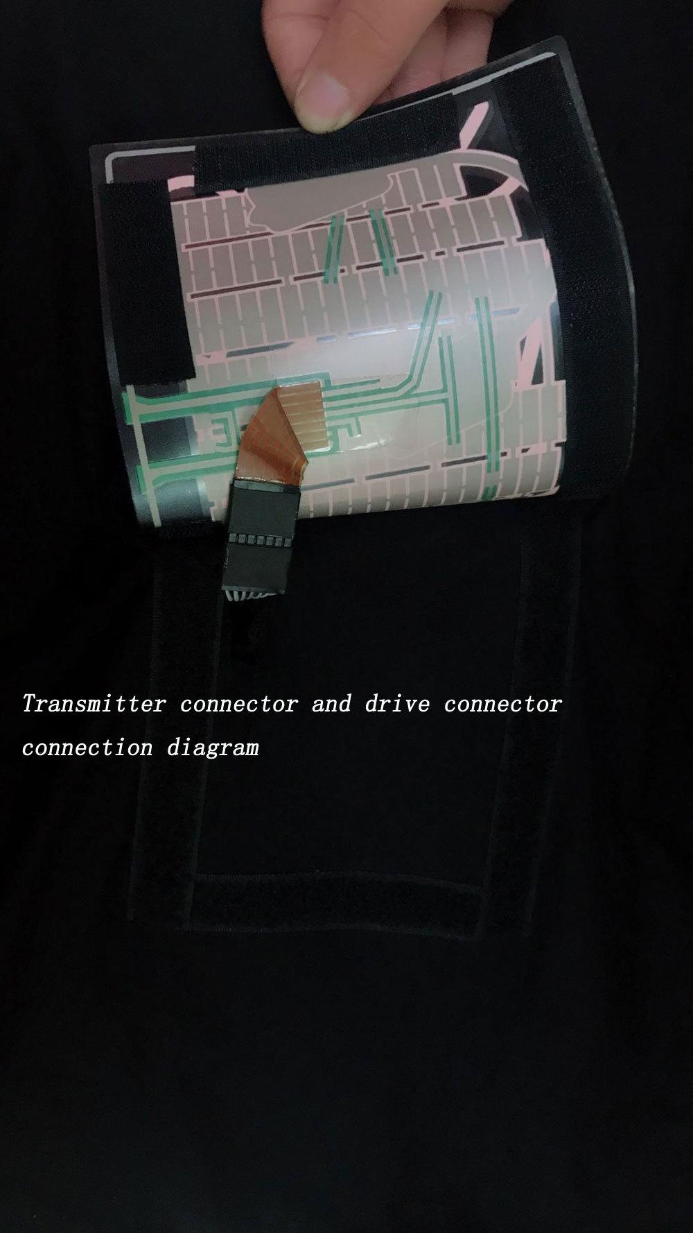 Men's Short Sleeve Personal Voice Control LED Flash Concert Music T-Shirt