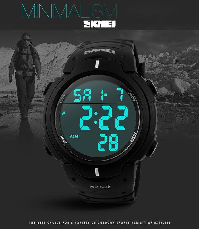 Buy Fashion Skmei 1068 Multifunctional LED Military Watch ...