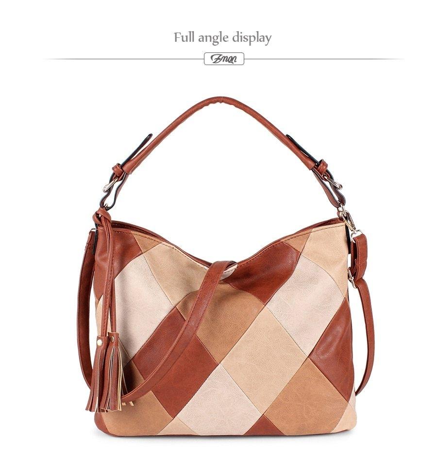 53e8fbf6c9a Fashion ZMQN Hand Bags For Women 2019 Patchwork Luxury Handbags ...