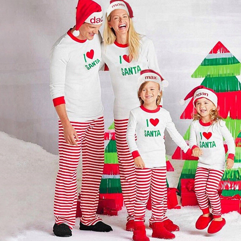 694805800 Fashion Xmas Baby Boy Girl Kids Nightwear Pajamas Pjs Sleepwear ...