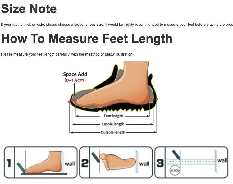 How to measure feet
