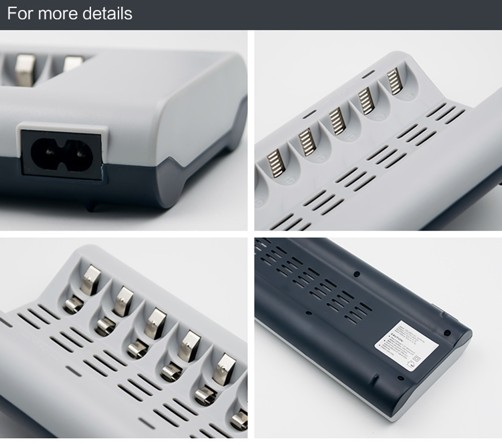 Fashion 8 Slots Charger AA / AAA Ni MH / Ni Cd Batteries Rechargeable Battery EU Plug price in nigeria
