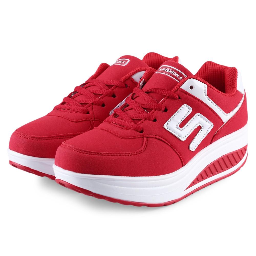 buy fashion ladies platform sports shoes red best
