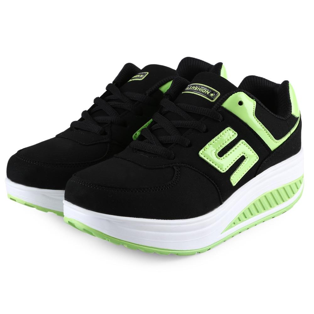 buy fashion ladies platform sports shoes black best