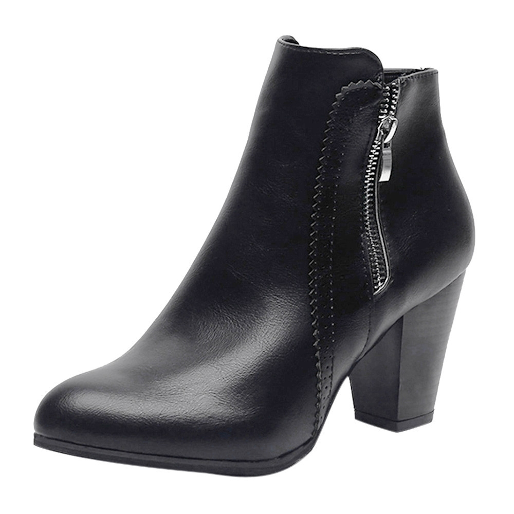 68069c95701 Fashion Jiahsyc Store Women Vintage Chunky High Heels Thick Heel ...
