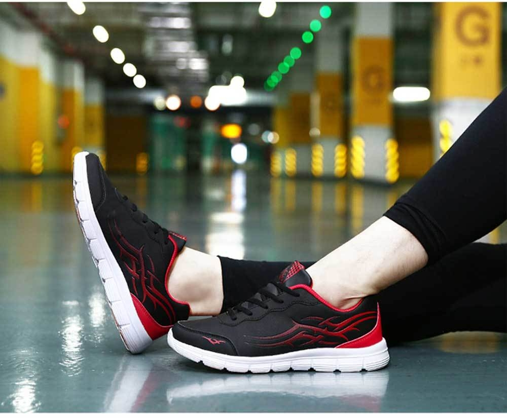 Fashionable Color Block Lace Up Breathable Sports Shoes for Men
