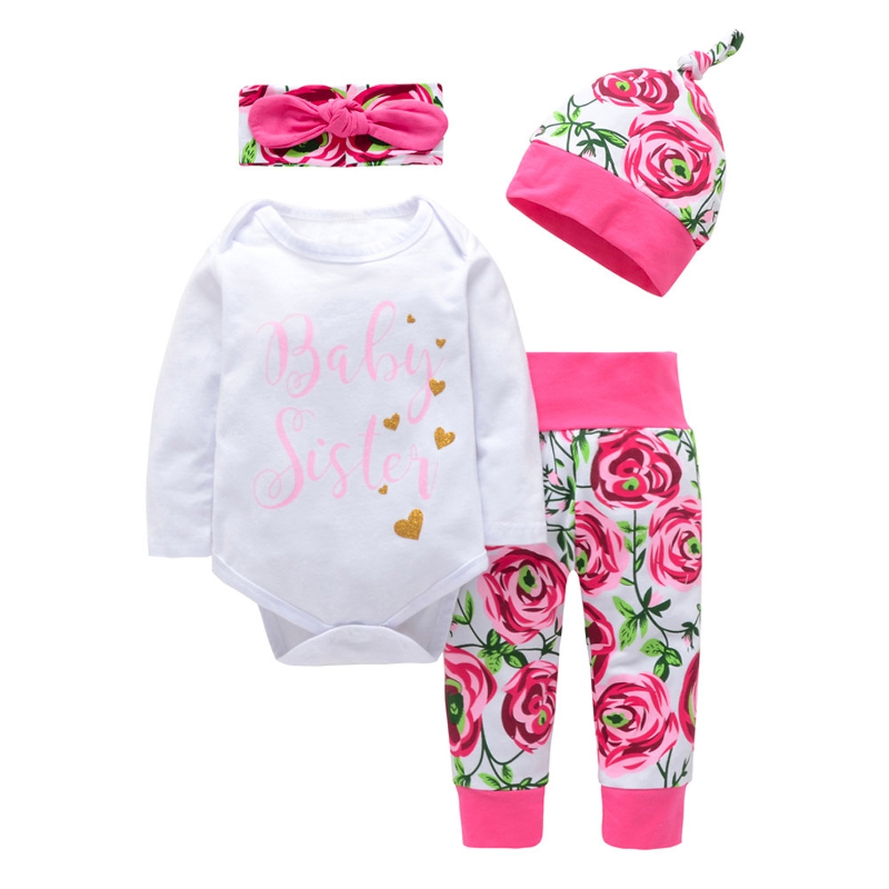 dce6ce3f7 Fashion Baby Outfit Newborn Baby Girls Boys Letter Print Tops+ ...