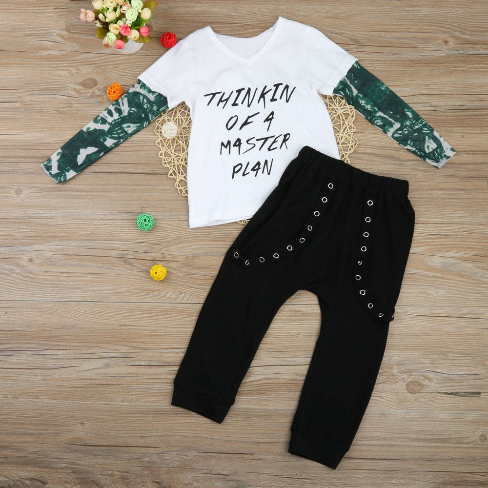 2f0b73c261c320 Fashion baby outfit newborn infant baby boy letter tattoo shirt jpg  1000x1000 Jumia babies clothes