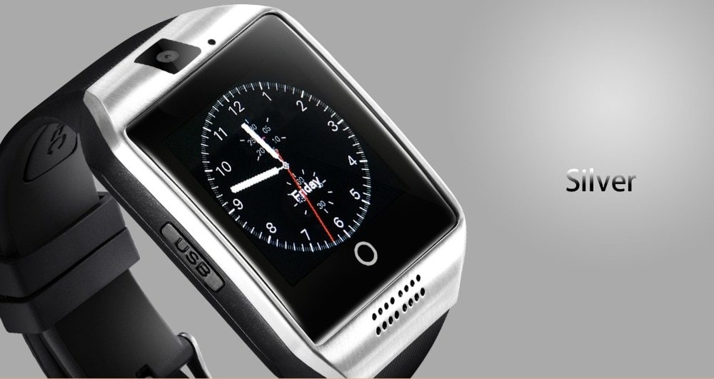 Q18 Smart Watch With Sim, Tf Card & 500mah Battery For Android & Ios Phones  With Free 8gb