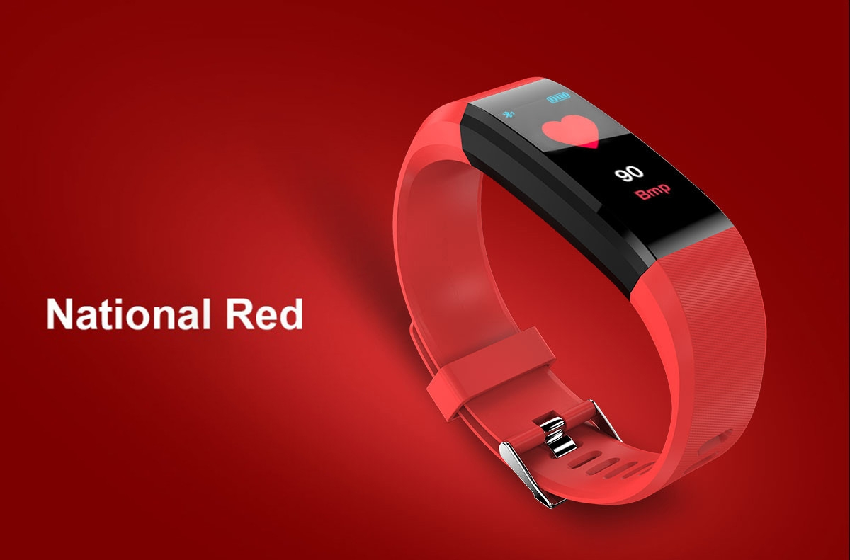 ID115 Plus Smart Bracelet 0.96 inch Screen Bluetooth 4.0 Call / Message Reminder Heart Rate Monitor Functions