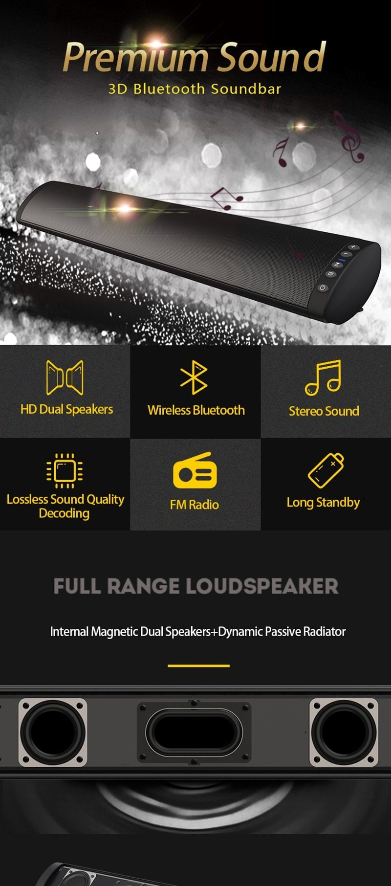 bluetooth tv sound bar 1