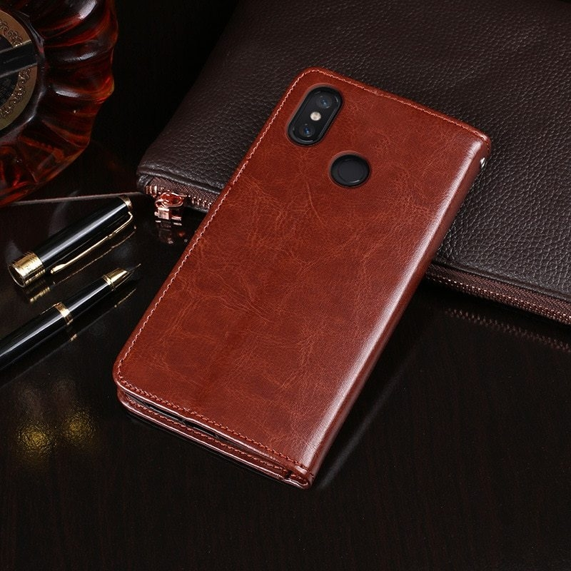 PU Leather Flip Wallet Phone Case Cover For Xiaomi Redmi Note 5 6A S2 6 Pro F1 Mi A1 A2 Mi 8 Lite 8 SE 4X 4A 5 Plus Note 4X Capa (4)