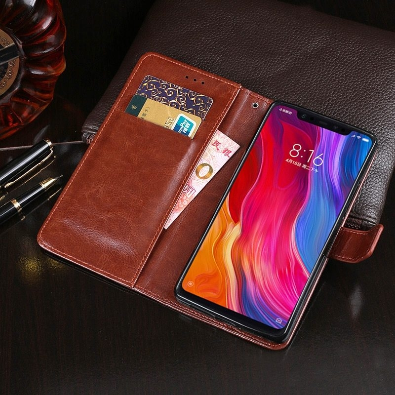 PU Leather Flip Wallet Phone Case Cover For Xiaomi Redmi Note 5 6A S2 6 Pro F1 Mi A1 A2 Mi 8 Lite 8 SE 4X 4A 5 Plus Note 4X Capa (5)