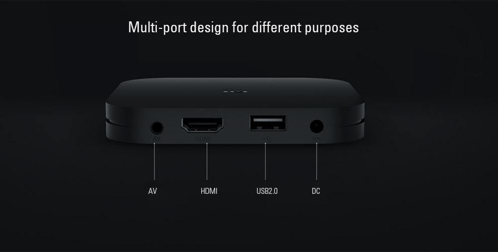 Xiaomi Mi4C Patchwall TV Box Amlogic S905L / 1GB RAM + 8GB ROM /  2.4G Wi-Fi / BT4.1+ EDR / Supports 4K HDR / H.265 / DTS-HD