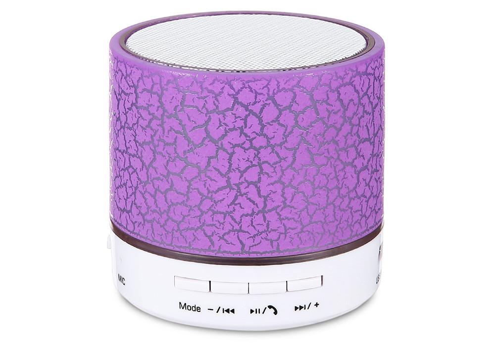 A9 Mini Bluetooth Speaker Flash LED Night Light TF Card AUX Input