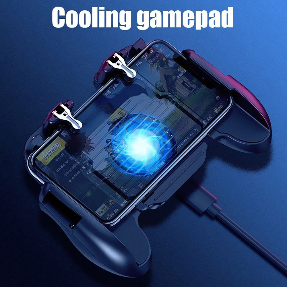 Mobile Game Controller Cooling Fan for PUBG L1R1 Trigger Joystick
