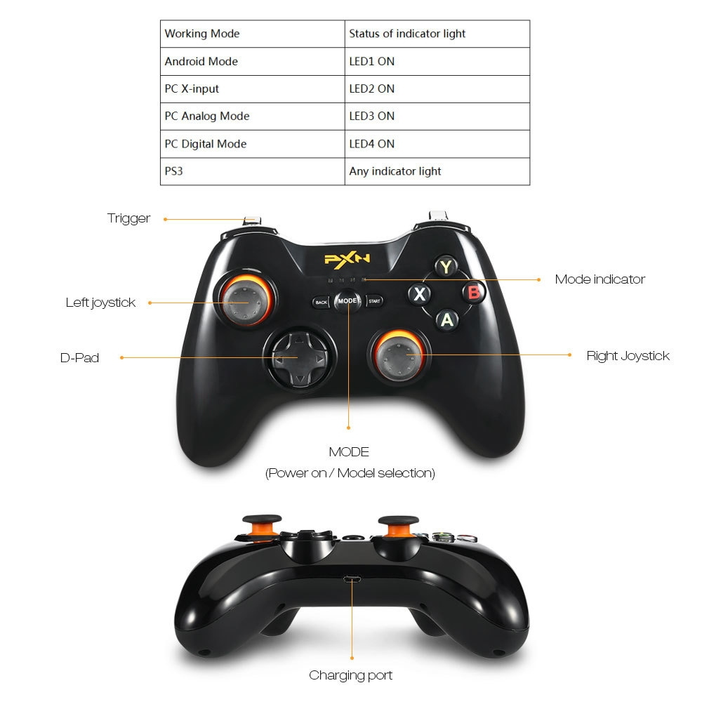 PXN PXN - 9603 Gamepad Wireless Controller Joystick for Android Tablet Mobile Phone TV PC PS3