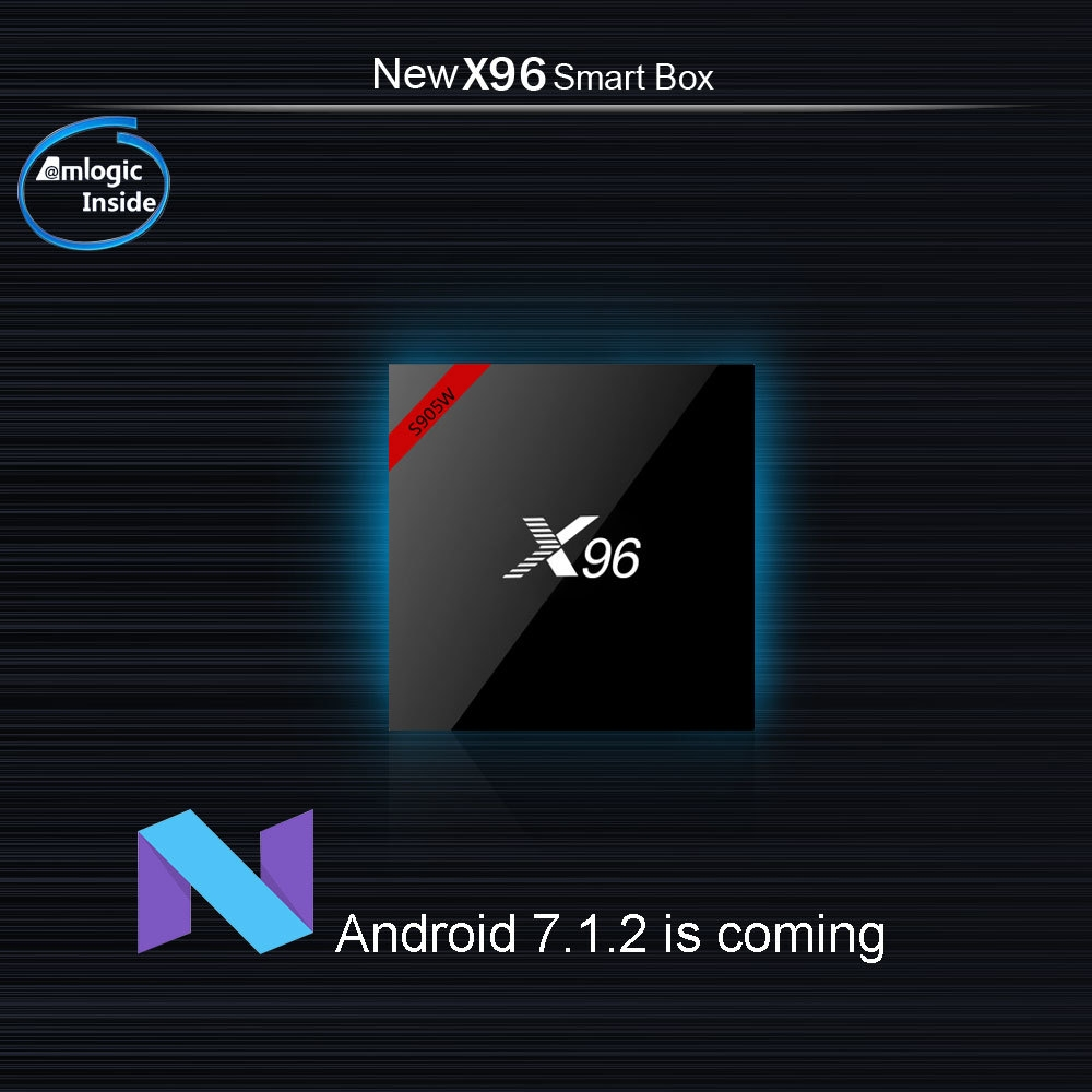 X96W Android TV Box Amlogic S905W CPU Support Bluetooth 4.0 2.4GHz WiFi 4K H.265