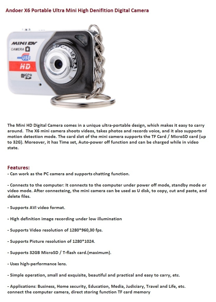 Andoer X6 HD Digital Camera available affordable