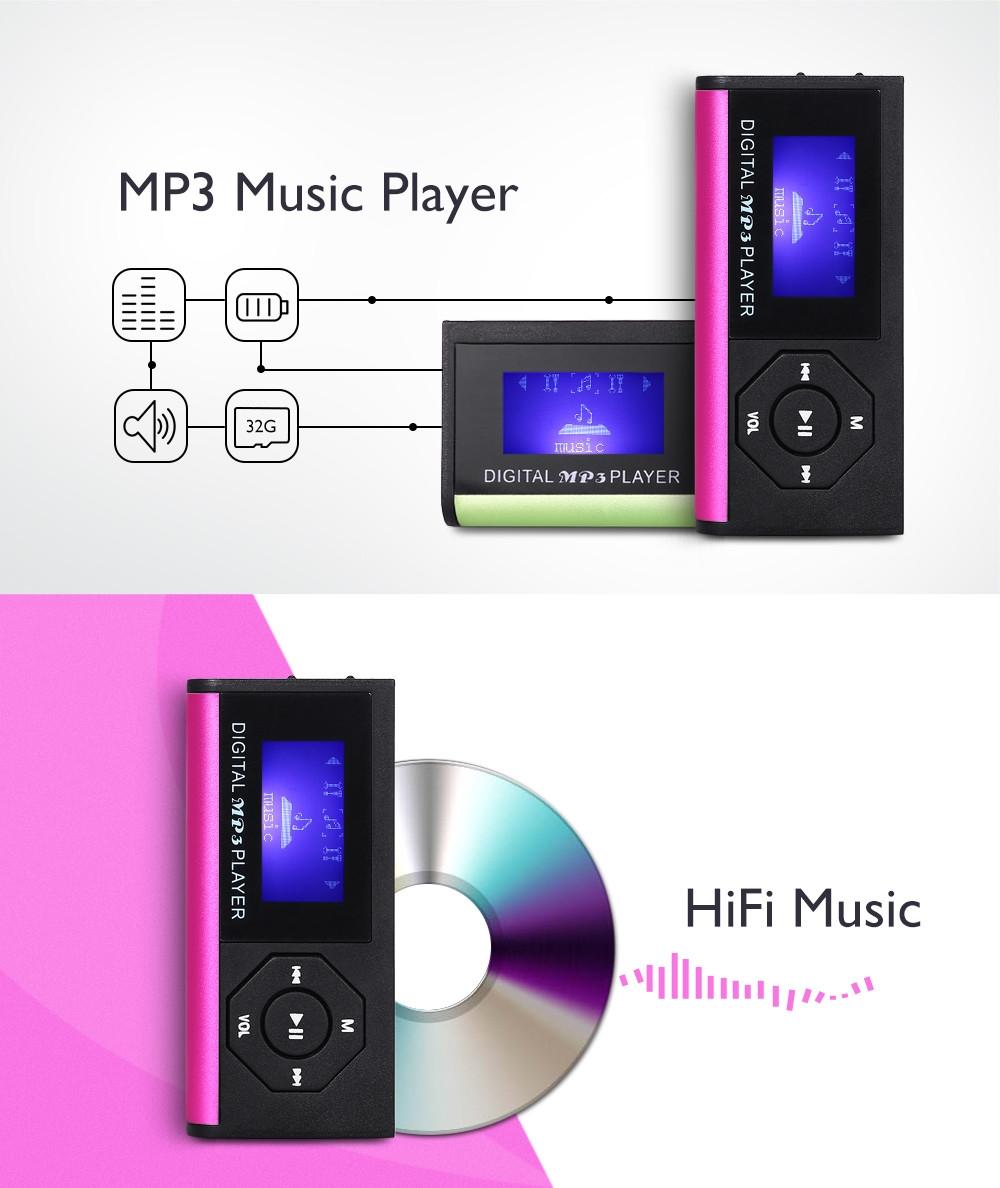 Portable Mini 0.9 inch MP3 Music Player