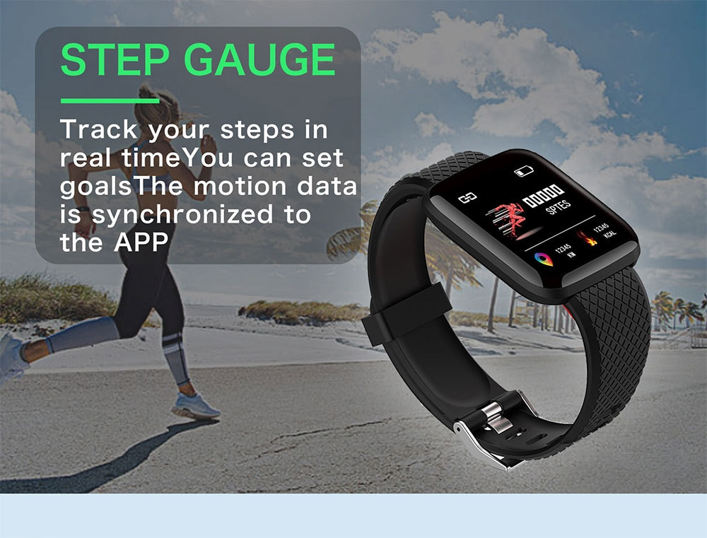 2-130442- Smart Bracelet Blood Pressure Measurement Waterproof Fitness Tracker Watch Heart Rate Monitor Pedometer Smart Band Women Men