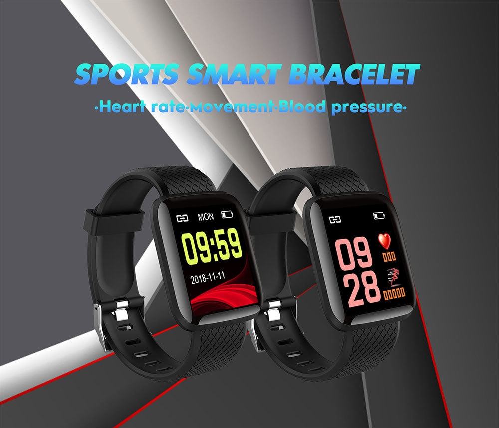 1-130442- Smart Bracelet Blood Pressure Measurement Waterproof Fitness Tracker Watch Heart Rate Monitor Pedometer Smart Band Women Men