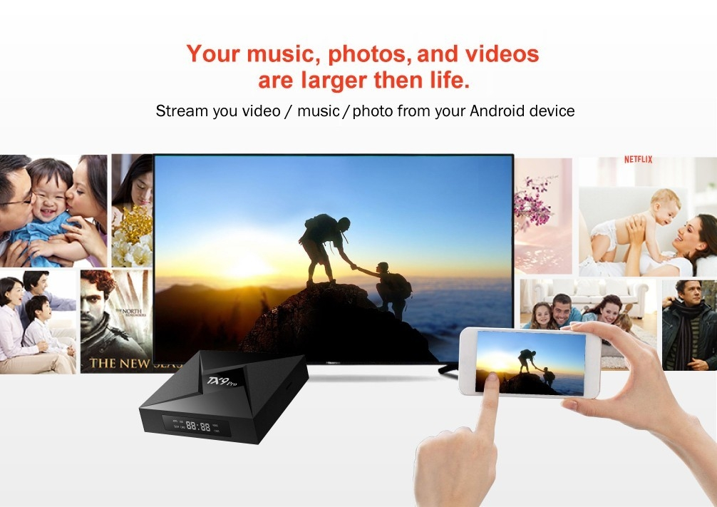 TX9 Pro TV Box Android 7.1 Amlogic S912 2.4 / 5.8GHz WiFi Support 4K x 2K Bluetooth 4.1
