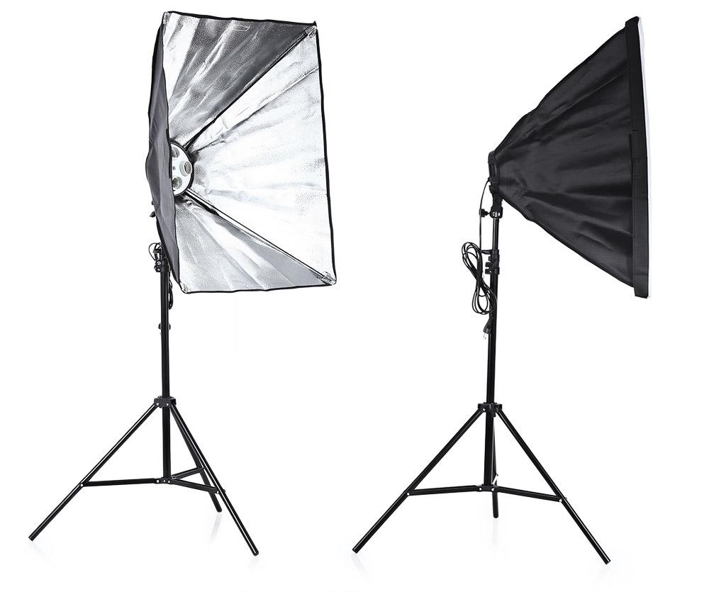Light Stand Organizer: Generic 3-in-1 Photo Studio Kit 4 Lamp Holder 2m Light