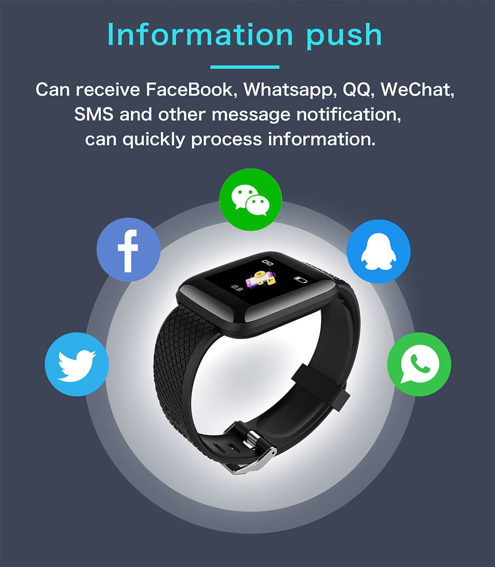 5-130442- Smart Bracelet Blood Pressure Measurement Waterproof Fitness Tracker Watch Heart Rate Monitor Pedometer Smart Band Women Men