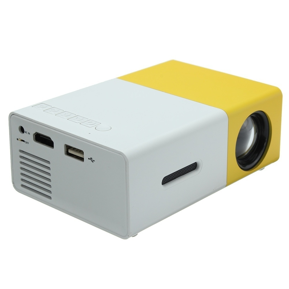 Generic projector yg300 yellow white high definition mini for Mini portable projector