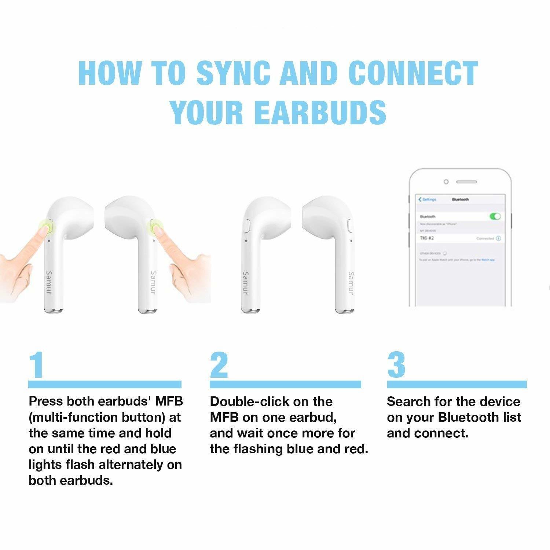 Wireless earbuds - i7 wireless earbuds right ear