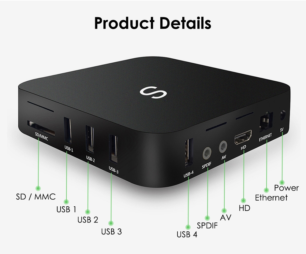 Mesuvida Mini High Definition Model S RK3229 Set Top Box with Android 8.1
