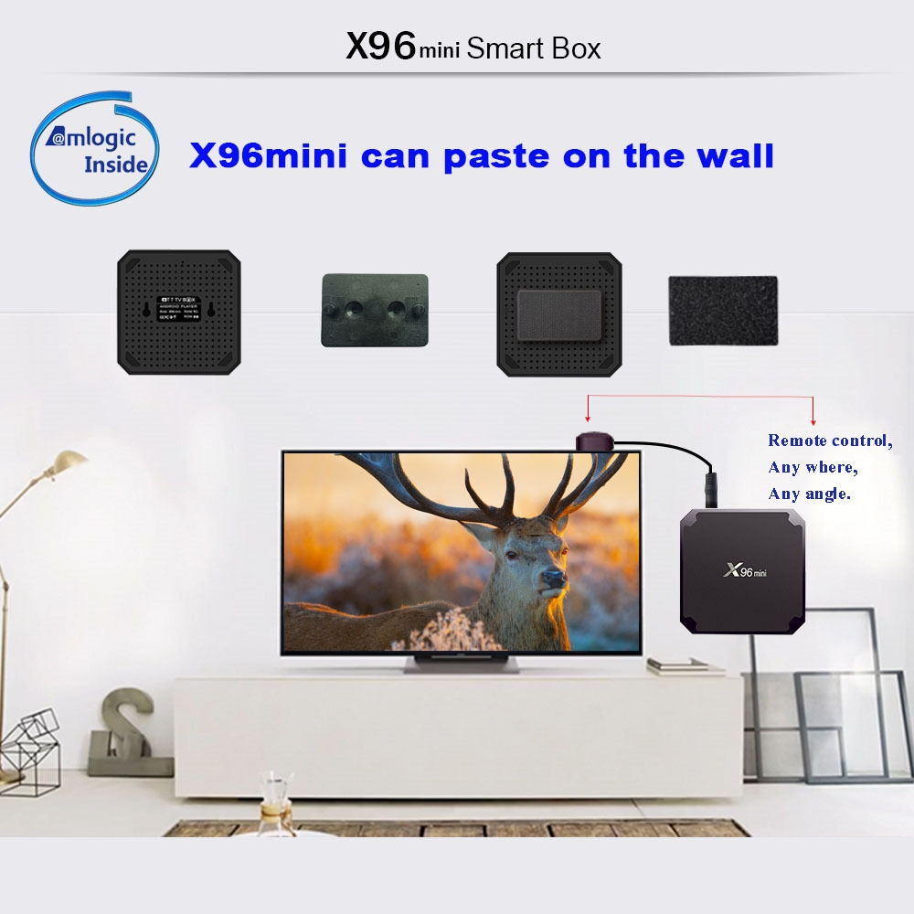 X96mini Android TV Box Digital Player S905W Support 2.4GHz WiFi 4K H.265 100M LAN