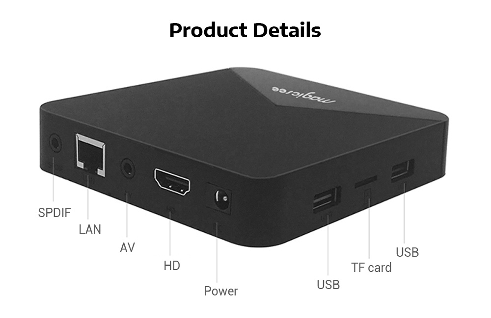 MAGICSEE N5 S905X 4K HD TV Box Max 2GB / 16GB Media Player for Android 7.1.2