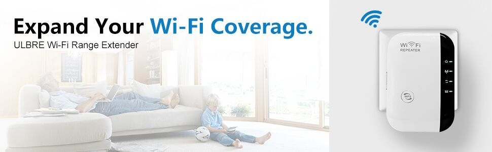 The wifi repeater can extend your wifi coverage.