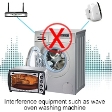 Waveoven, main wall, and washing machine will affect its performance