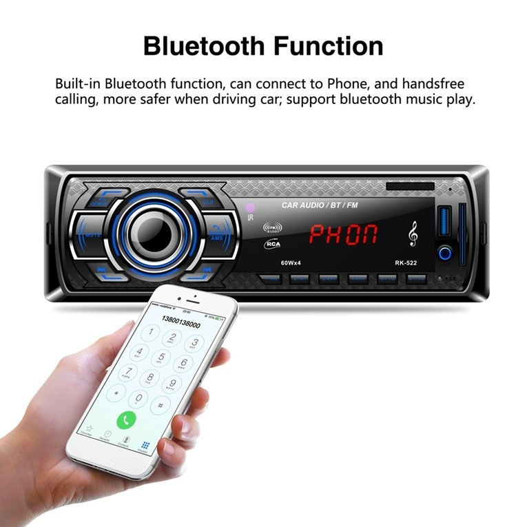Generic Car DVD Secure Digital Memory Card Reader USB MP3 Player With  Bluetooth FM Tuner