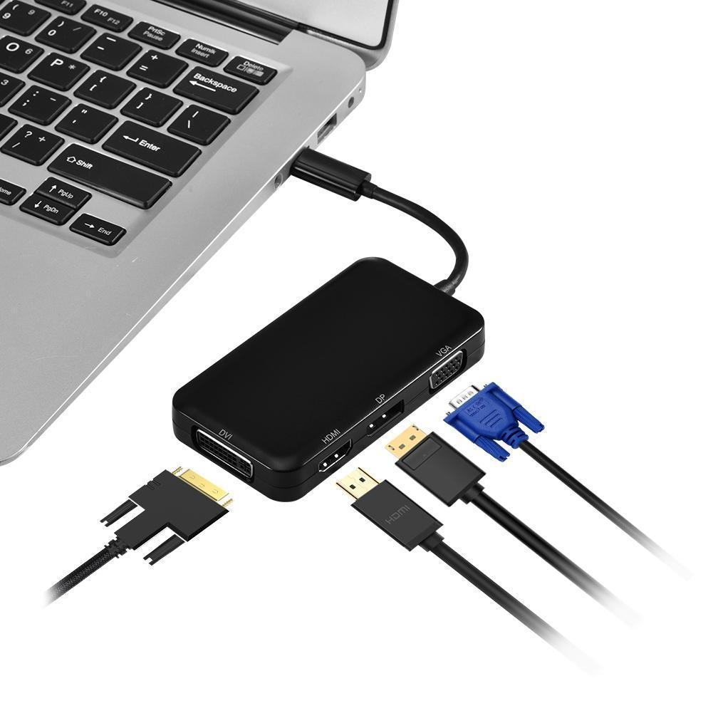 Generic High Quality 4-In-1 Usb-C 3 1 Type C To Hdmi Dp Dvi