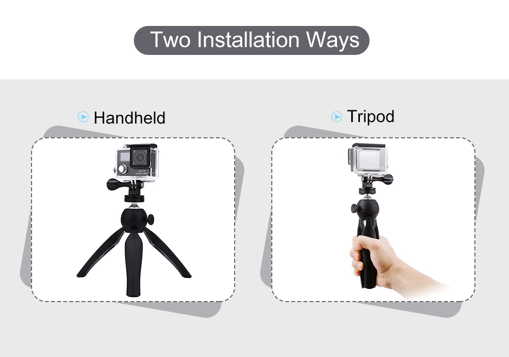 7.28 inch Rotation Tripod Desktop Handle Stabilizer for Phone Action Camera