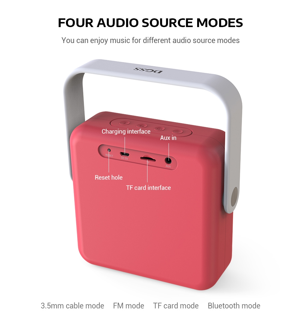 DOSS DS - 2022 Outdoor Portable Wireless Bluetooth Stereo Speaker Mini Player