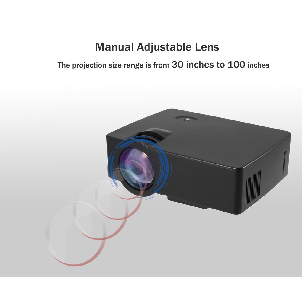 E08 LCD Projector 2500 Lumens 800 x 480 Pixels 1080P HD Media Player