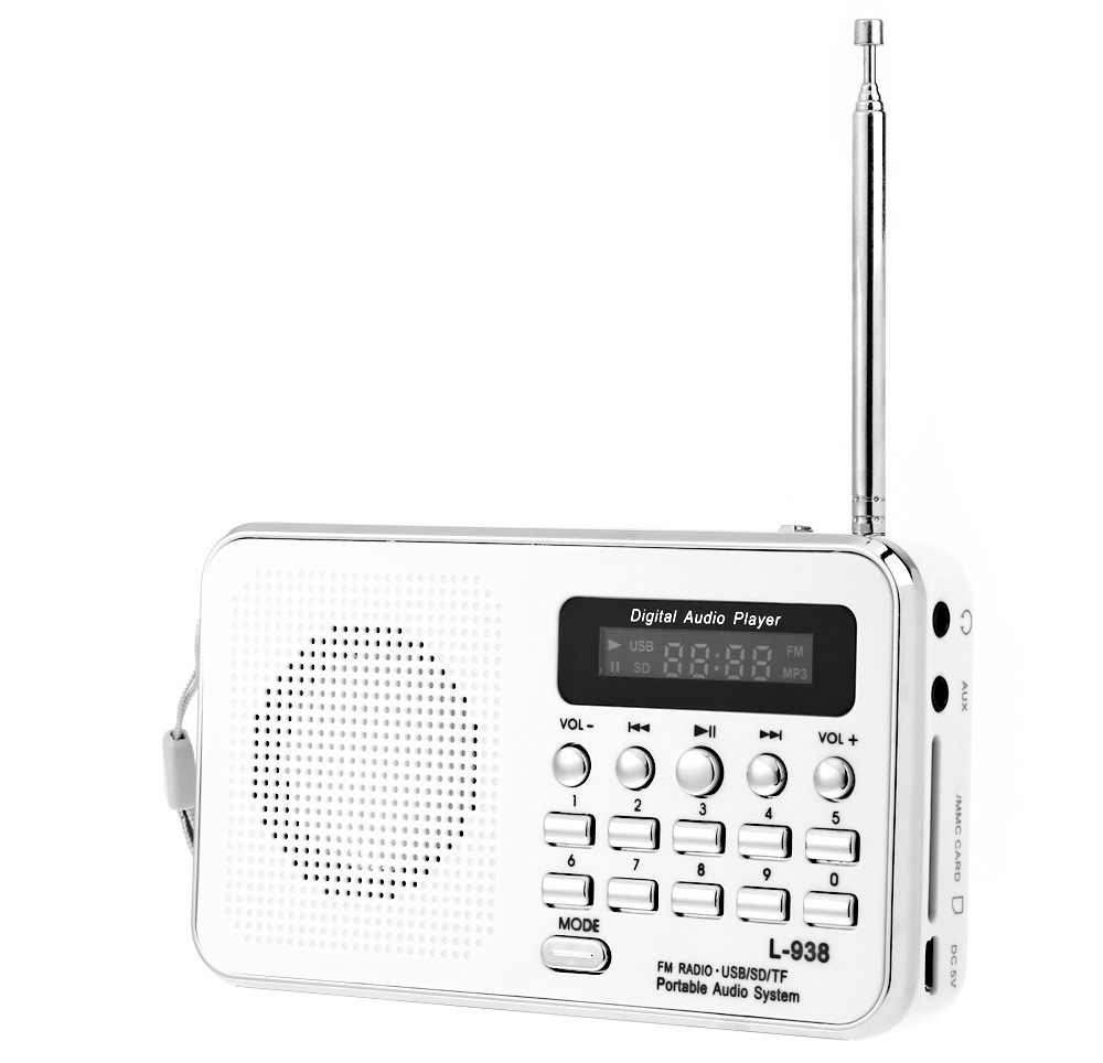 L - 938 Portable FM Radio MP3 Player Support TF / SD Card USB Audio Input