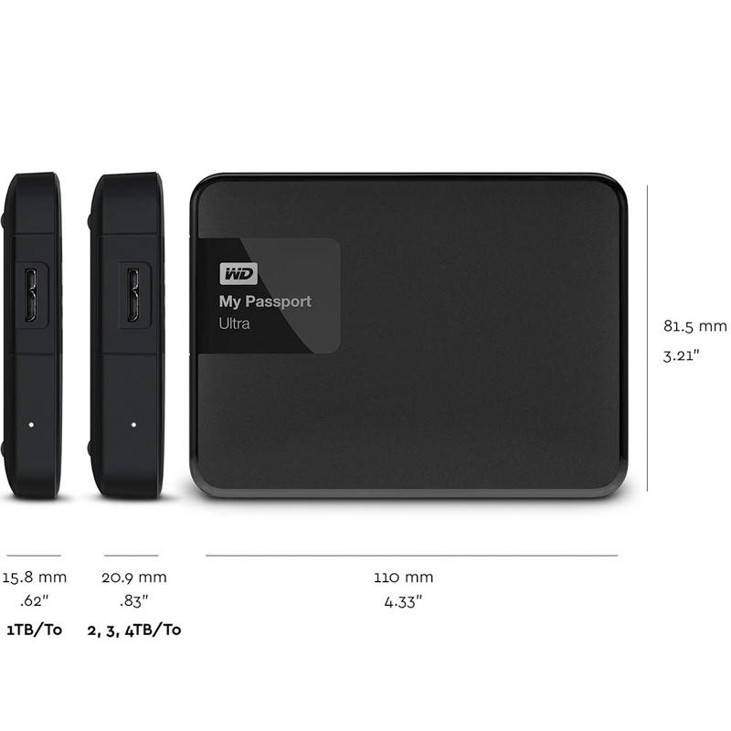 WD Elements Portable External Hard Drive Disk HD 3TB High