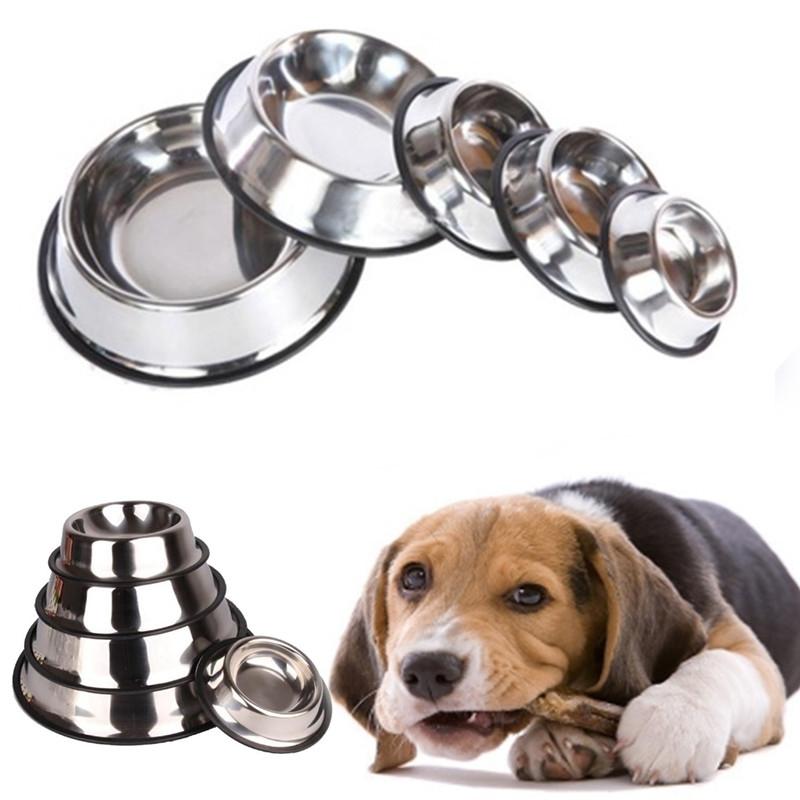 224b33128c8ccb5d95d6a8b050f1f441 Generic 15CM Stainless Steel Pet Puppy Cat Anti Slip Feeding Feeder Food Water Bowl Dish price on jumia