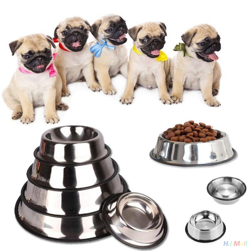 3a6549f0df9798abfaec08cf4c925bcb Generic 15CM Stainless Steel Pet Puppy Cat Anti Slip Feeding Feeder Food Water Bowl Dish price on jumia